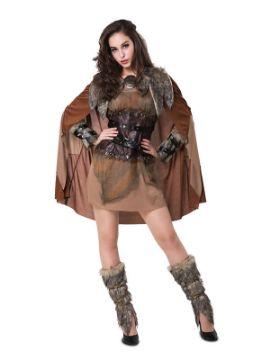 disfraz de vikinga nordica para mujer