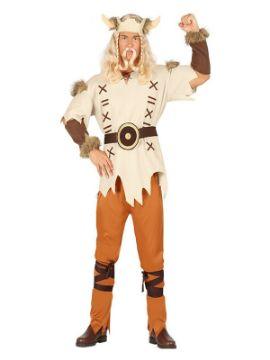 disfraz de vikingo con cuernos para hombre