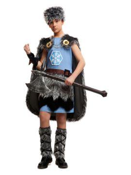disfraz de vikingo del hielo para niño