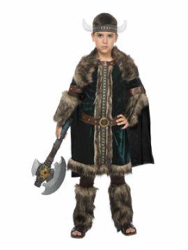 disfraz de vikingo deluxe para niño