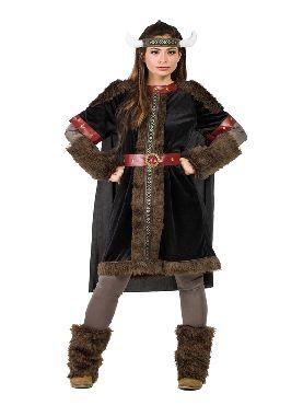 disfraz de vikinga negra para mujer