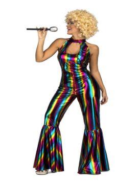 disfraz disco arcoiris para mujer