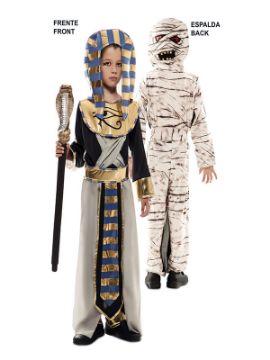 disfraz doble egipcio y momia para infantil