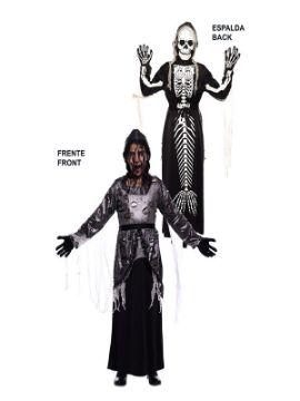 disfraz doble sirena y esqueleto infantil