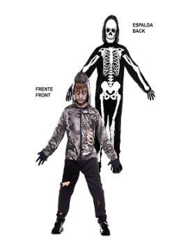 disfraz doble zombie y esqueleto infantil
