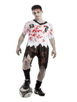 disfraz de futbolista zombie hombre