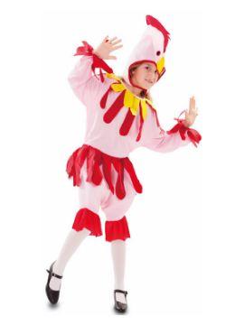 disfraz gallina rosa niña varias tallas