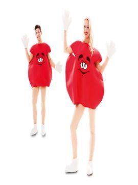 disfraz lacasito emanems rojo para adulto