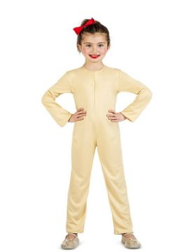 disfraz maillot o mono color carne infantil