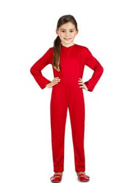 disfraz maillot o mono color rojo infantil