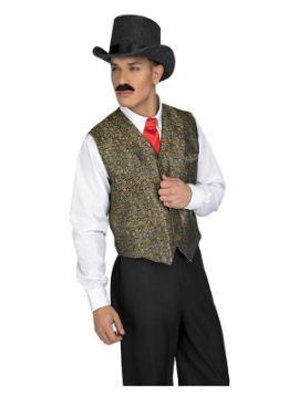 disfraz o chaleco de vaquero con estampado hombre