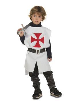 disfraz o peto de guerrero medieval blanco niño