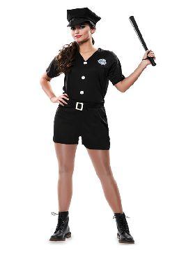 disfraz policia con pantalon para mujer