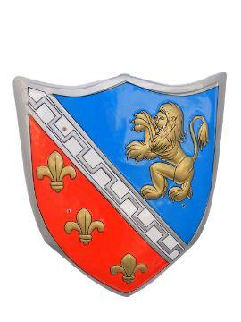 escudo caballero con relieve y abrazaderas 47x59 cm