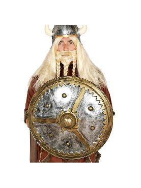 escudo de vikingo redondo 61 cm