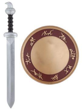 escudo y espada romano plastico