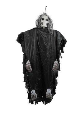 esqueleto colgante negro halloween
