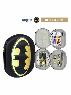estuche escolar de batman triple negro