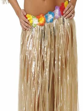 falda hawai flores varios colores 90x60 cm