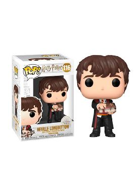 figura funko pop harry potter neville with monster book