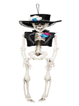 figura esqueleto colgante el flaco