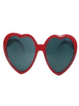 gafas corazon rojas