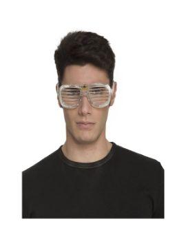 gafas de rejilla con luces blancas