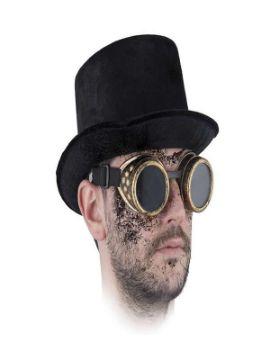 gafas steampunk doradas