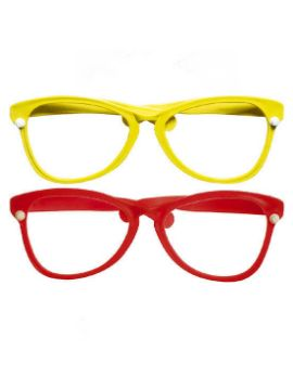 gafas gigantes de payaso varios colores