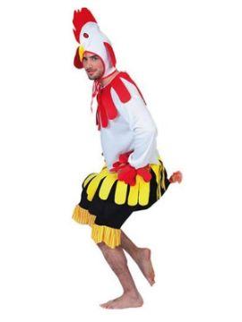 disfraz de gallo blanco hombre adulto