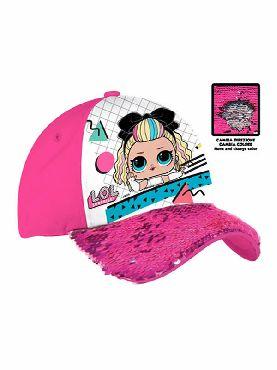gorra de las lol surprise lentejuelas rosa