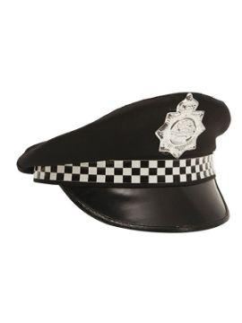 gorra de policia patrullero con insignia