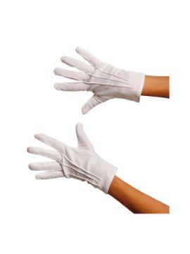 guantes cortos blancos adulto