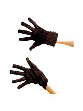 guantes cortos negros adulto