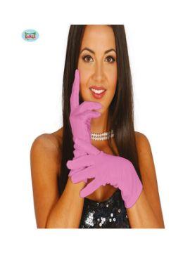 guantes cortos rosa 20 cms