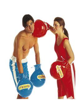 guantes de boxeo hinchables surtidos