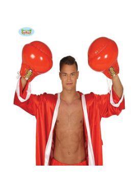 guantes de boxeo rojo hinchables