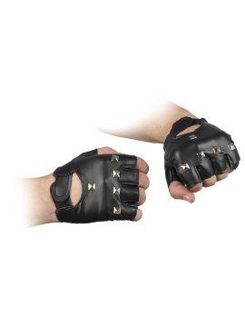 guantes de motero polipiel con remaches acero