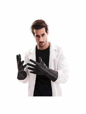 guantes de pvc 34 cm negros
