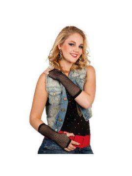 guantes hasta el codo new york negro
