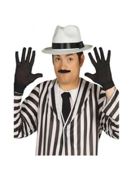 guantes negro corto 25 cms adulto