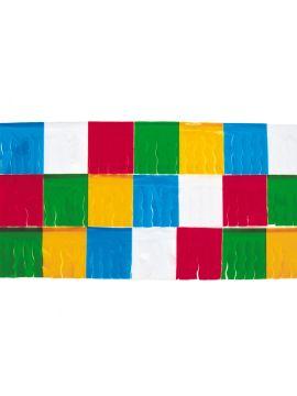 guirnalda con flecos de colores plastico 4 metros