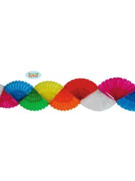 guirnalda con trenzas de colores papel 4 metros