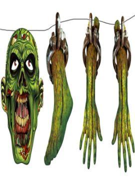 guirnalda zombie destrozado halloween
