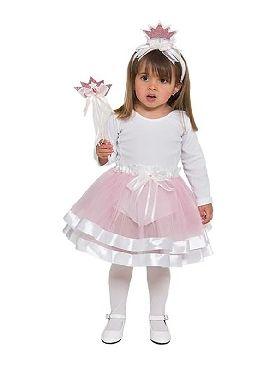 kit de princesa rosa para bebe tiara varita y falda