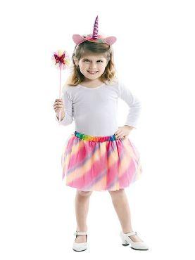 kit de unicornio falda diadema y varita