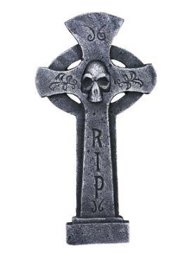 lapida en cruz rip esqueleto
