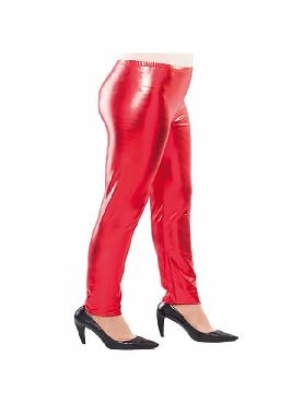 leggins brillantes rojo adulto