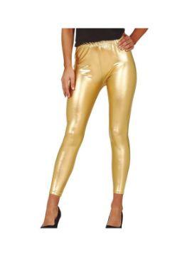 leggins metalizados oro