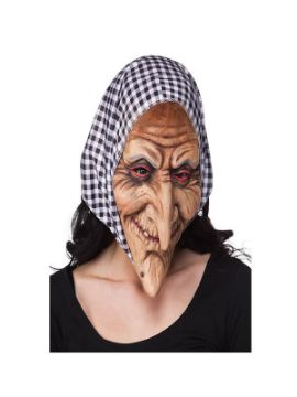 mascara de abuelita con pañuelo latex